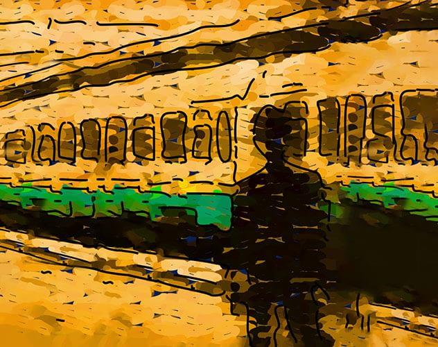 passenger leaving train on platform.