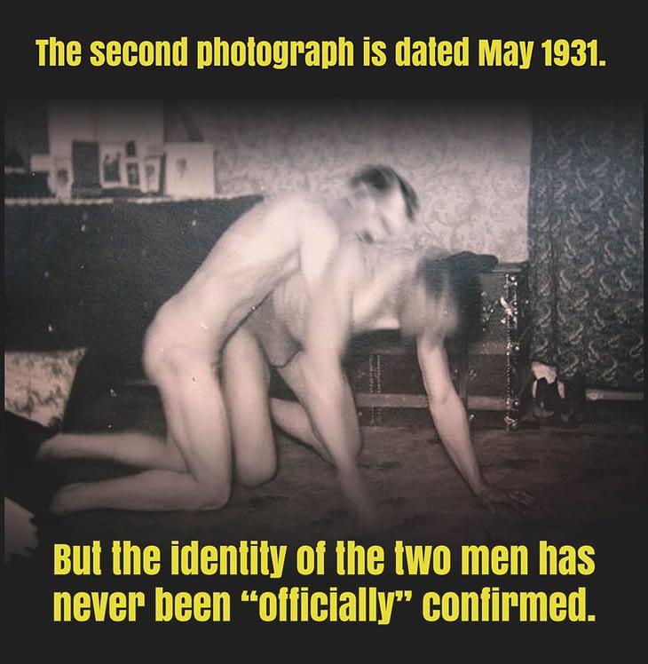 Two men wrestling - 1931