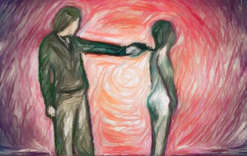 Impressionist painting - female executioner.
