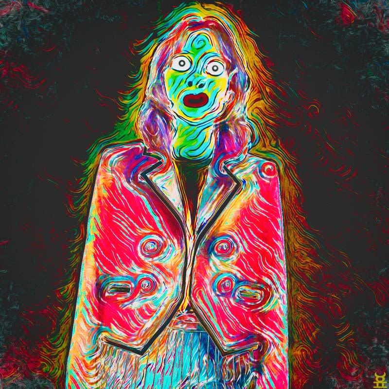 Psychedelic portrait painting.